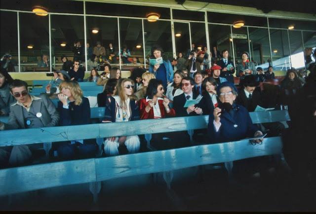 Фредди Меркьюри и Мэри Остин на ипподроме Кемптон-Парк