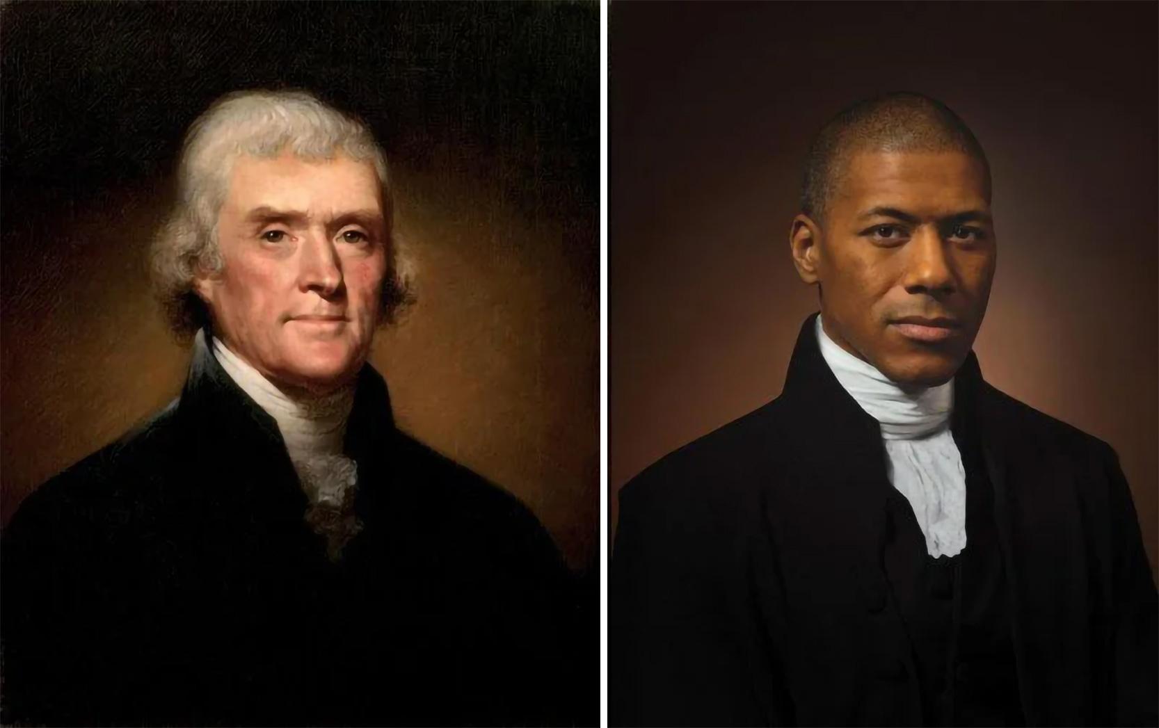 Томас Джефферсон, третий президент США, и его внук в шестом поколении, актер Шэннон Ланье