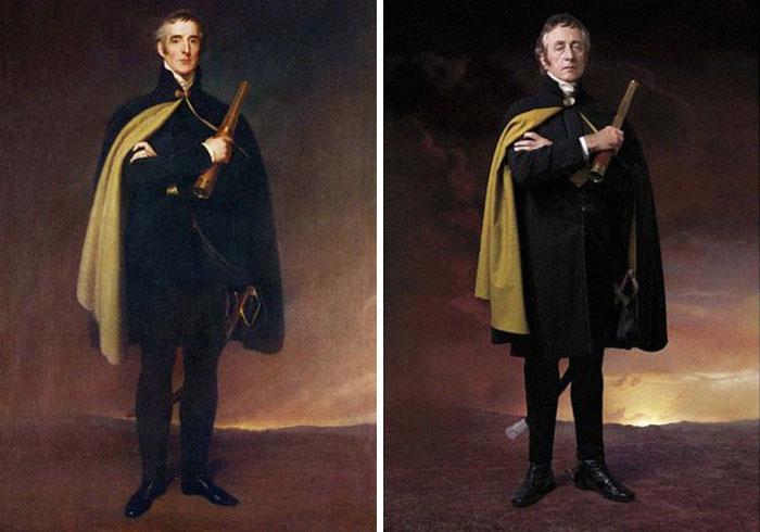 Герцог Артур Уэлсли Веллингтон, полководец и политик, победитель Наполеона при Ватерлоо, и его прапрапраправнук Джереми Клайд