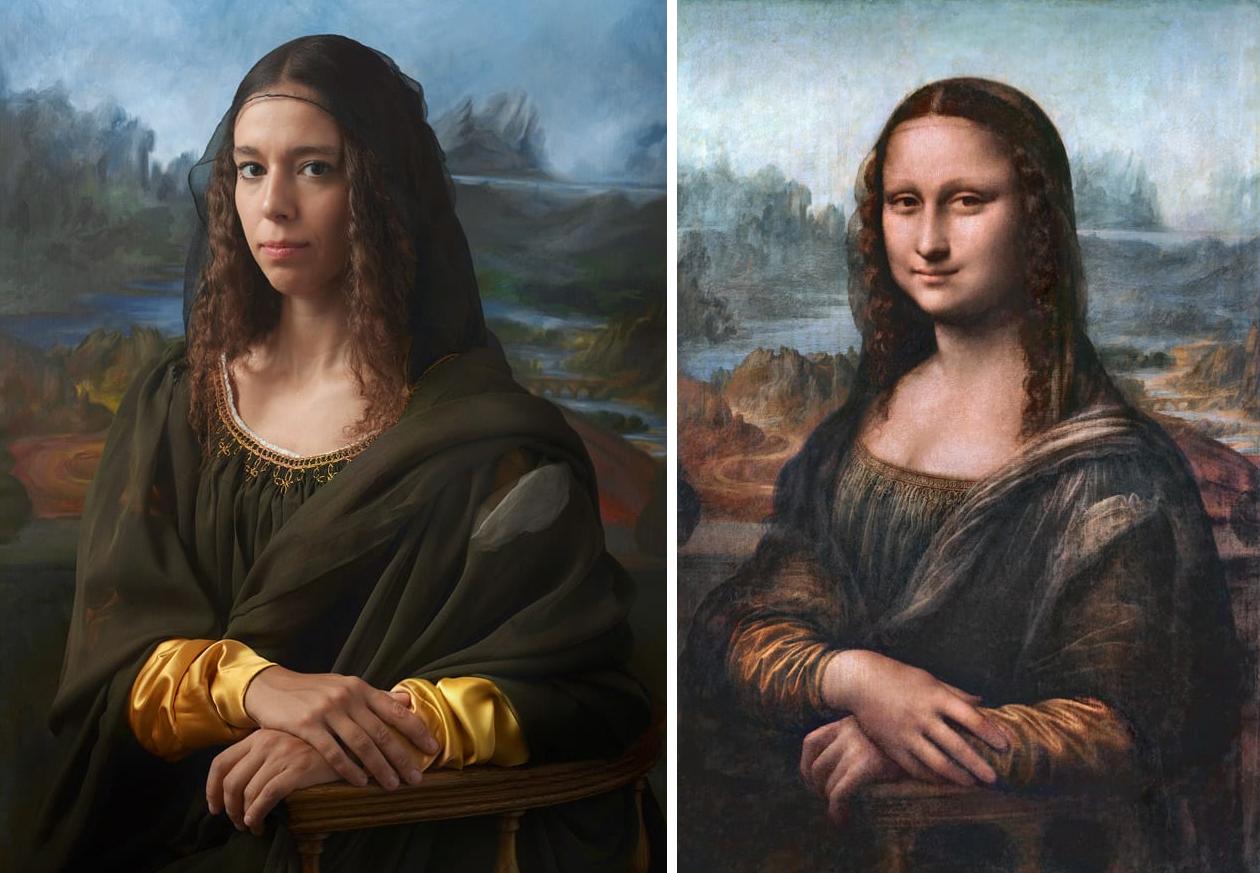 Джоконда (Мона Лиза, Лиза дель Джокондо) и её внучка в 15-м колене Ирина Гуиччардини Строцци
