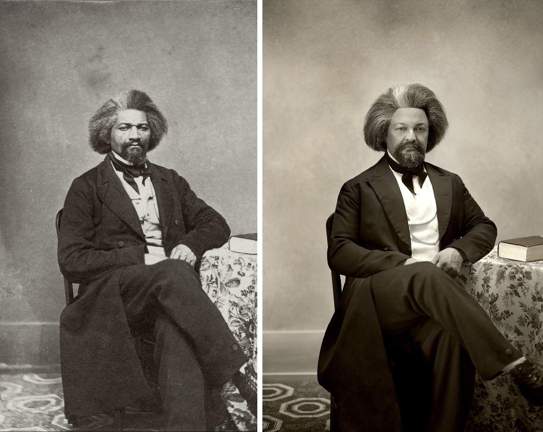 Фредерик Дуглас, писатель, и его внук в третьем поколении Кеннет Моррис