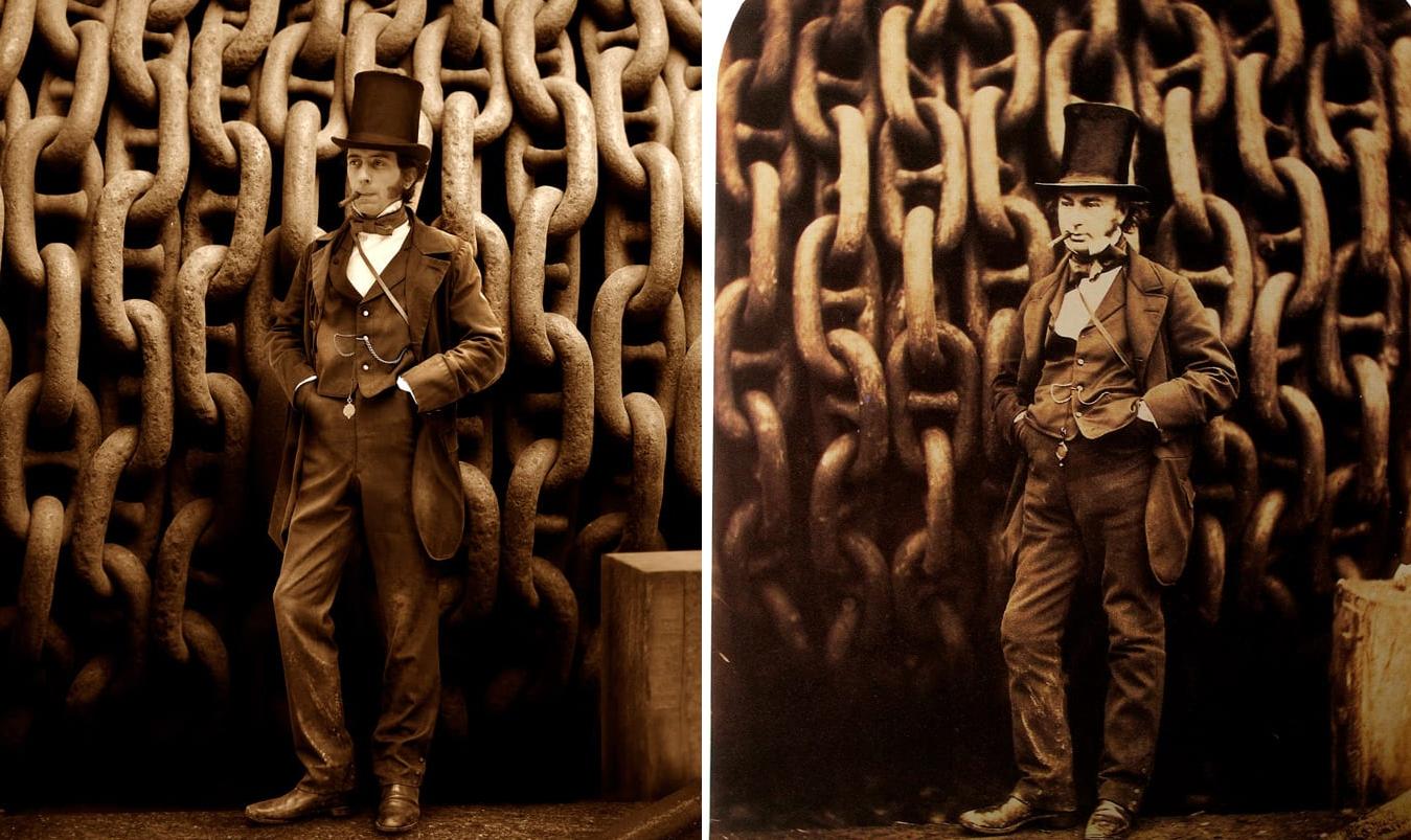 Изамбард Кингдом Брюнель, британский инженер, и его внук в 3-м колене Изамбард Томас