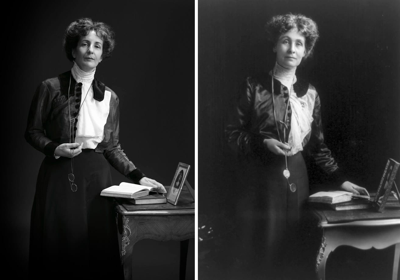 Эммелин Панкхерст, борец за права женщин и её правнучка Хелен Панкхерст