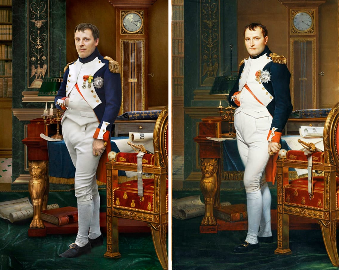 Наполеон Бонапарт и его прапрапраправнук Уго де Сали