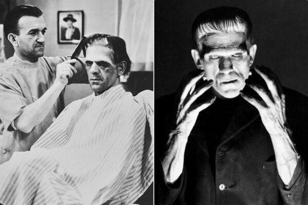 Старые снимки Бориса Карлоффа в роли монстра из фильма «Франкенштейн» (1931)