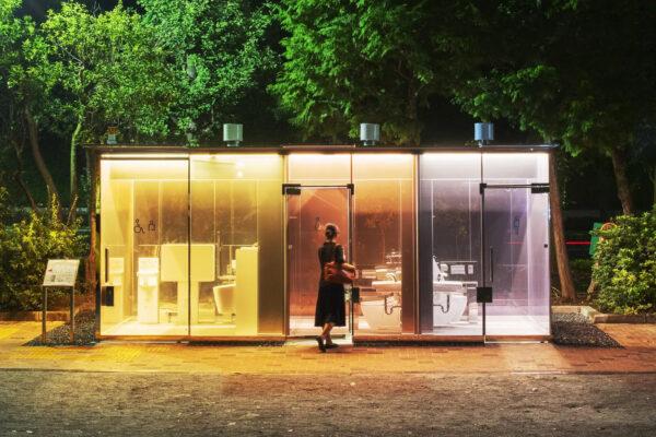 Прозрачные общественные туалеты в Токио