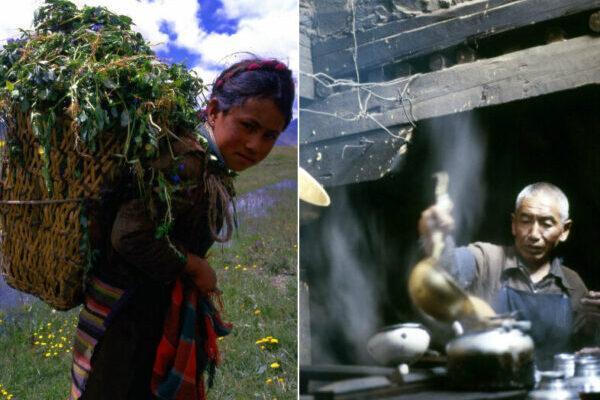 Повседневная жизнь в Тибете в цветных фотографиях 1987 года