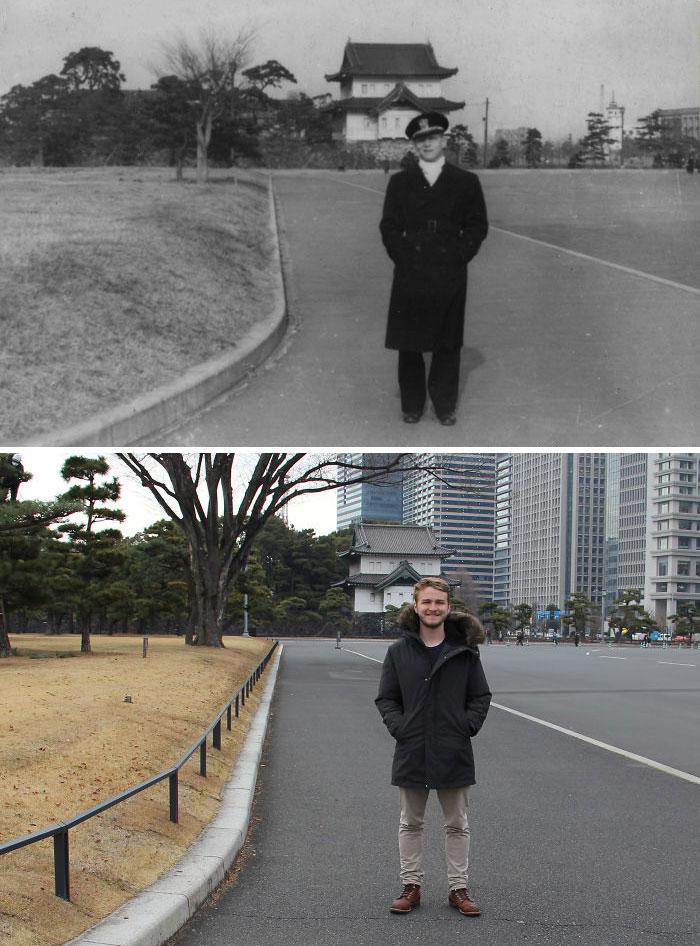 «Мой дедушка и я в Токио, разница 73 года»