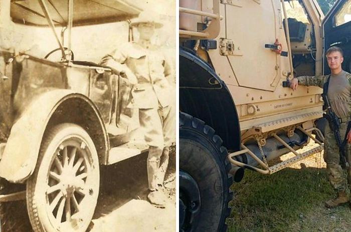 Мой прадедушка и я тренировались в одном месте, с разницей 100 лет
