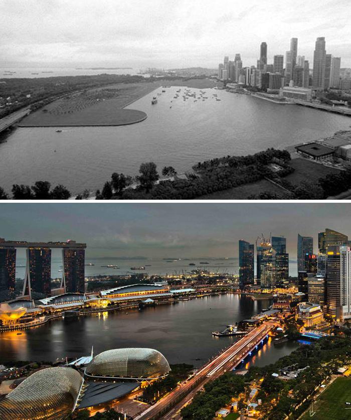 Сингапур в 2000 и сейчас