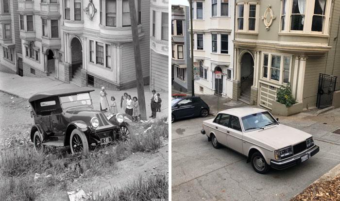 Сан-Франциско, Калифорния, США, 1920 и 2020 года