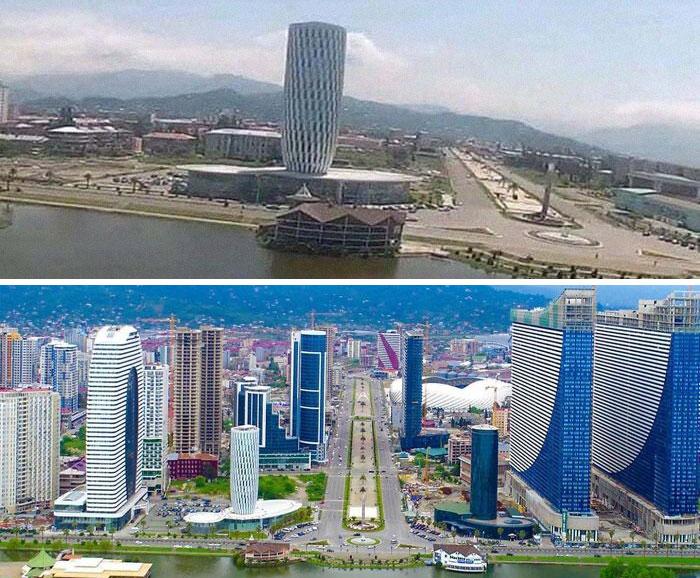 Развитие города в Грузии