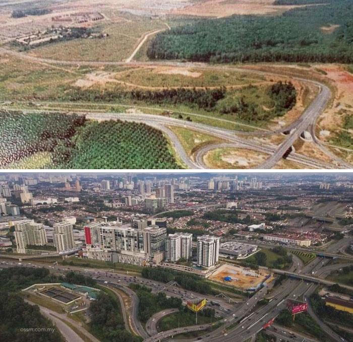 Субанг-Джая, Малайзия, разница 44 года