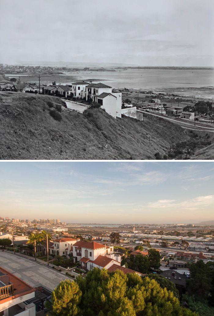 Сан-Диего, Калифорния, США, 1927 и 2020 года