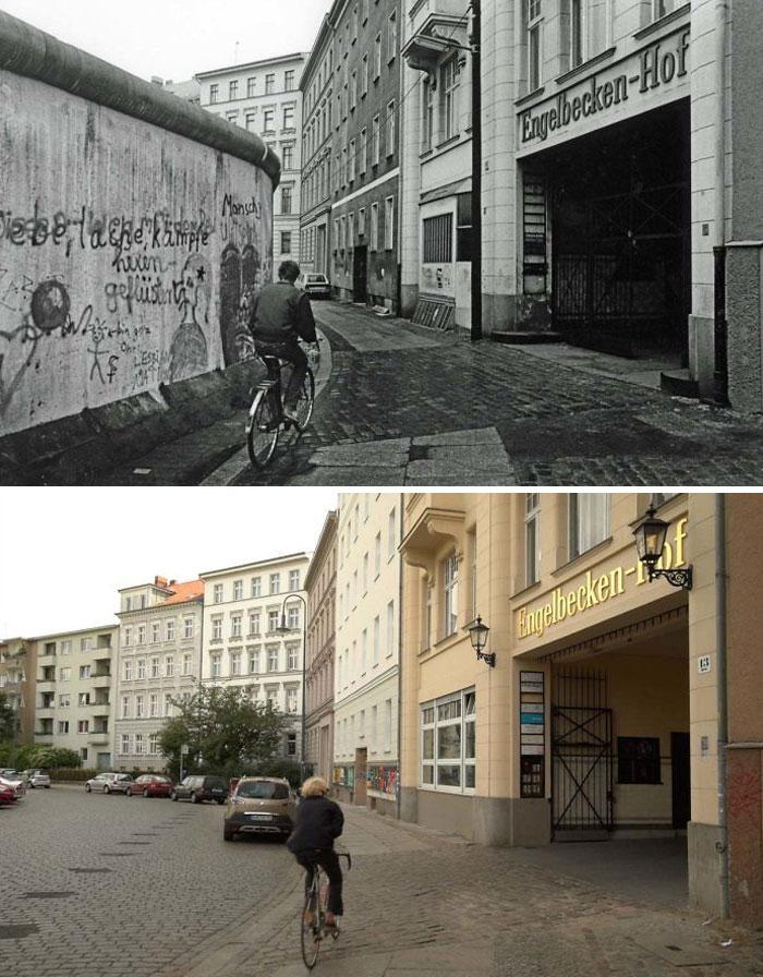 Район Кройцберг, Берлин, примерно 1985 и 2018 года