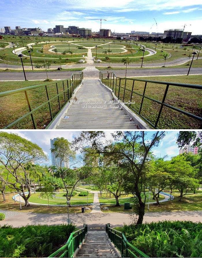 Парк Бишан, Сингапур, 1988 и 2020 года