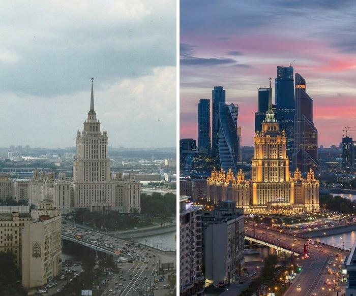 Москва с разницей в 20 лет