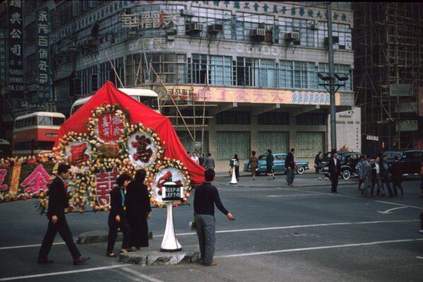 Редкие цветные фотографии Гонконга в 1950-х годах