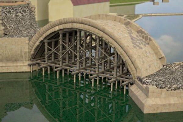 Как строили Карлов мост в Праге в 14 веке
