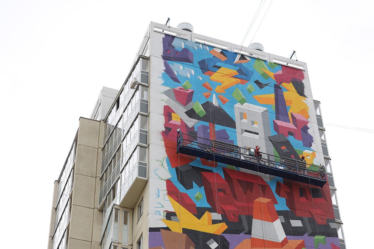 Красочный стрит-арт от Виталия Царенкова