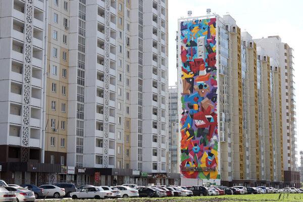 Красочный мурал о влиянии человека на природу от Виталия Царенкова