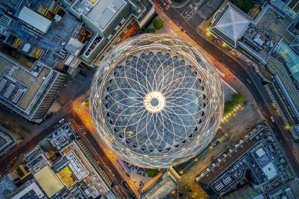 6 самых популярных построек мира с высоты птичьего полёта