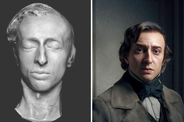 3D-художник создаёт портреты знаковых деятелей искусства прошлого
