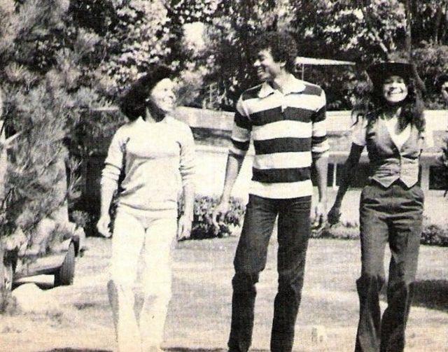 Майкл Джексон c семьёй, 1979 год