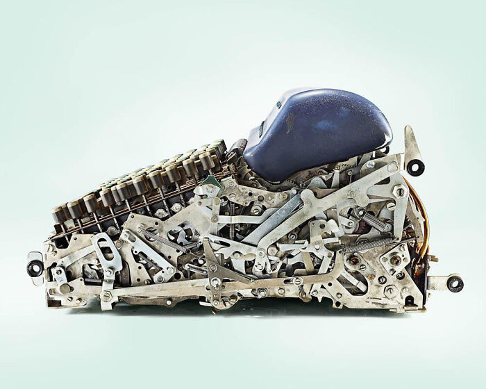 Механизм старого калькулятора