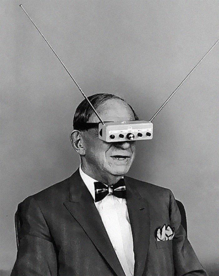 Телевизионные очки за десятилетия до Google Glass