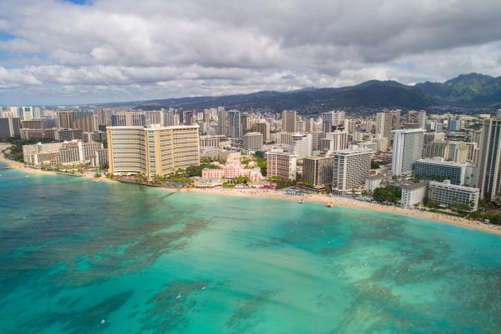 Пляж Вайкики, Гонолулу, Гавайи