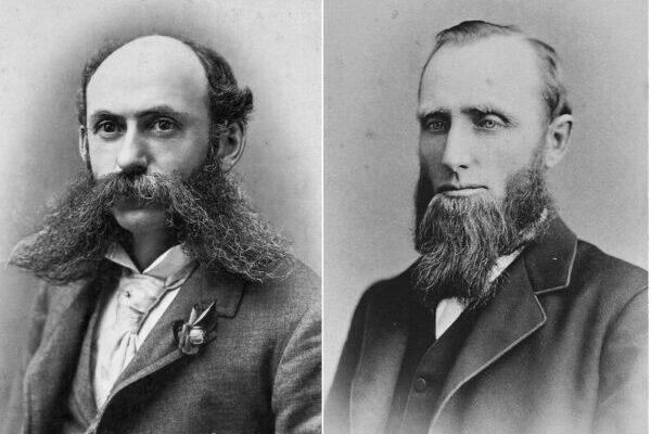 Стильные мужчины викторианской эпохи с бородами и усами