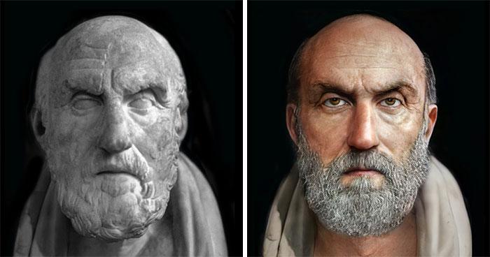 Греческий философ Хрисипп из Сол