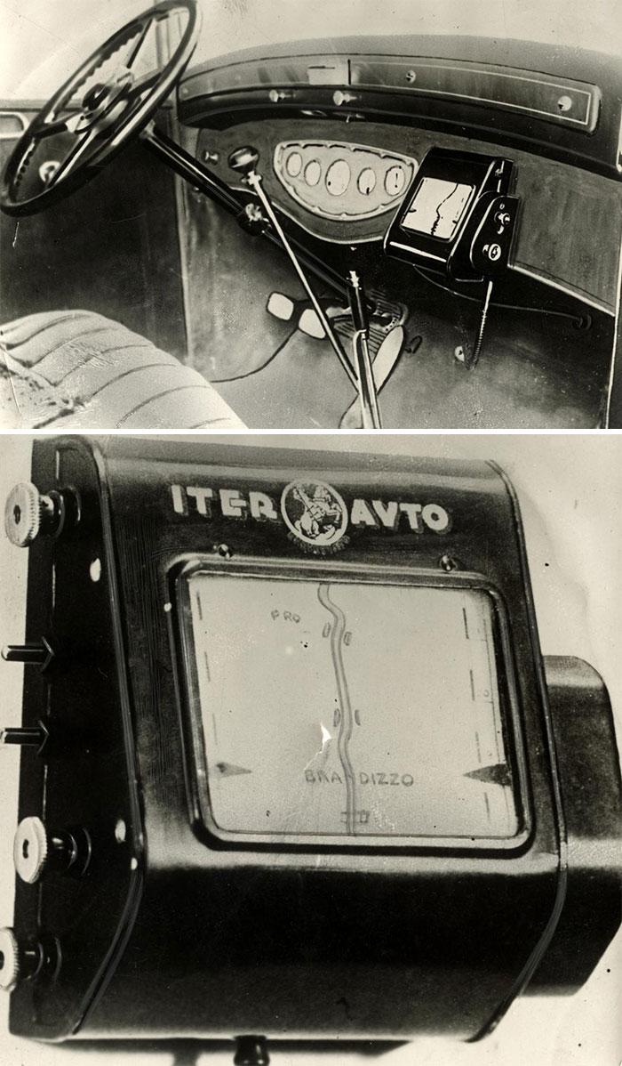 Ранний GPS. Рулон с картой
