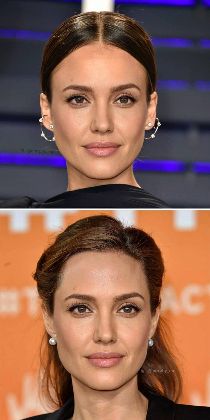 Джессика Альба и Анджелина Джоли