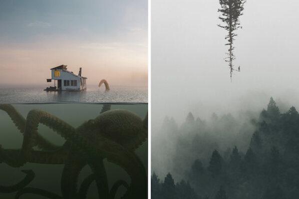 Воображаемая вселенная в сюрреалистичных композициях Теда Чина