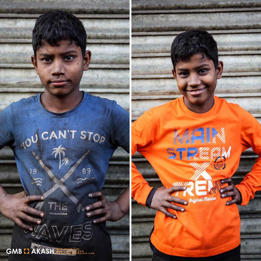Трогательные портреты бангладешских детей
