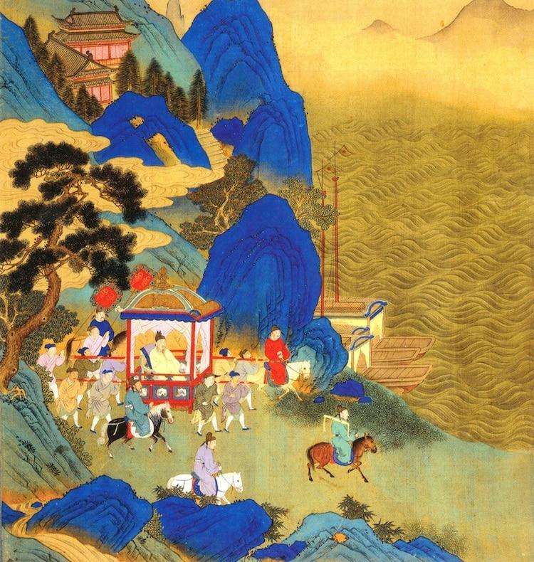 Путешествие Цинь Шихуанди по его империи (18 век)