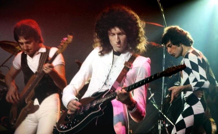 Queen на концерте Нью-Хейвене, ноябрь 1977 года