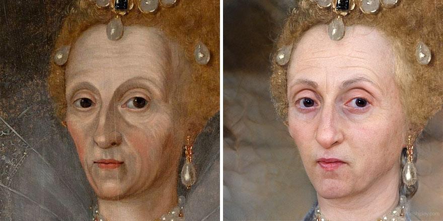 Елизавета I (в пожилом возрасте)