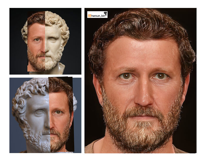 Художник воссоздаёт римских императоров с помощью искусственного интеллекта и Photoshop