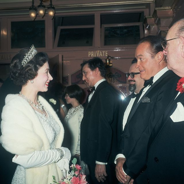 Королева Елизавета II и Боб Хоуп, 1967 год