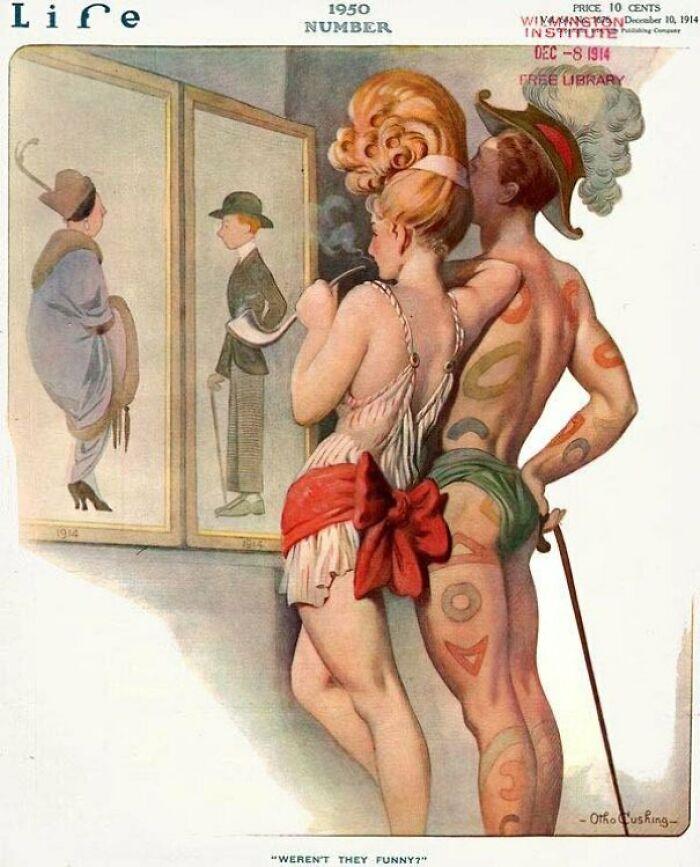 Мода 1950 года, предсказанная на обложке журнала Life в 1914 году