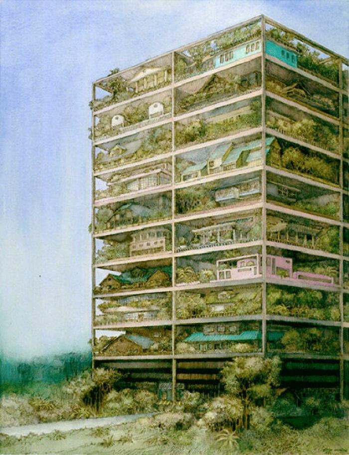 Видение пригорода после того, как места для пригородов больше не осталось, 1981 год