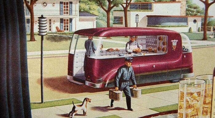 Видение будущего в сфере доставки еды, 1940-е годы
