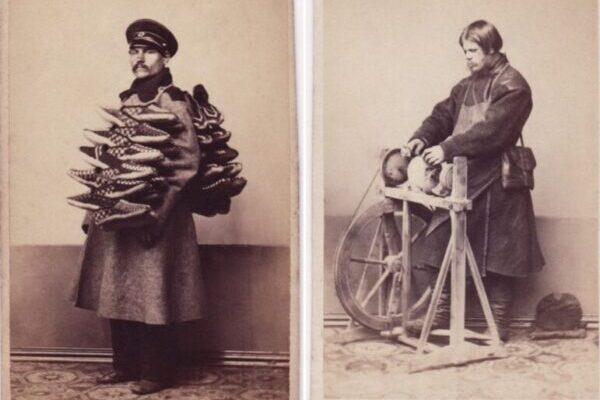 Старинные студийные портреты горожан России XIX века