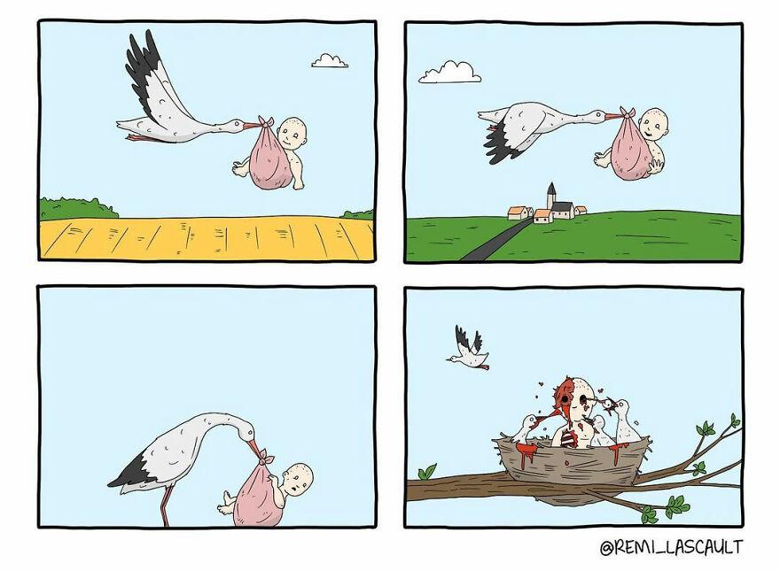 Комиксы с неожиданными концами для любителей чёрного юмора