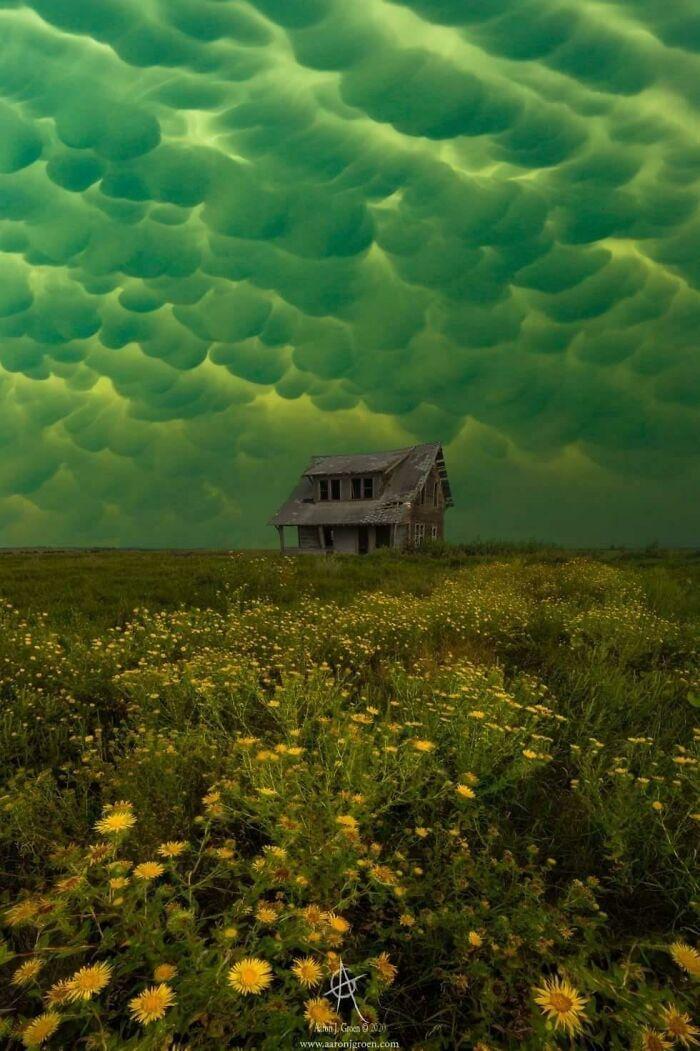 Вымеобразное облако