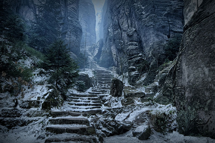 Праховские скалы в Чехии выглядит как Скайрим в реальной жизни