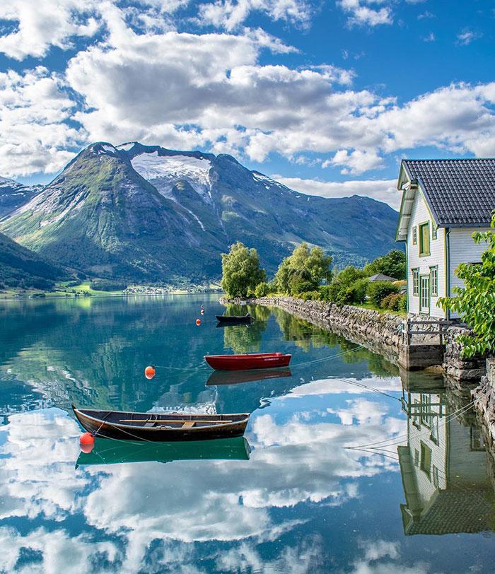 Оппстрин, Норвегия, похож на страну грёз